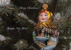 "Merry Christmas and Happy New Year! (Lyutik966) Tags: christmastree mareshka decoration nizhnynovgorod ariel glass drawing art russia flickrsbest ""nikonflickraward"" visualart"