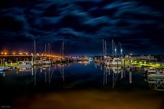 Blue Marina (mwjw) Tags: staugustine florida mwjw markwalter nikond850 night nightshot longexposure downtown municipalmarina marina