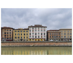_PXK9850bwtm (Concert Photography and more) Tags: 2018 italy pisa arno river lungarno town city buildings architecture royalvictoriahotel hotel pentax pentaxk1 pentax1530 hdpentaxdfa1530mmf28edsdmwr landscape townscape