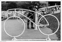 Wrong Way Round 363/365 (John Penberthy ARPS) Tags: sculpture 29dec18 3652018 d750 nikon monochrome 365the2018edition day363365 nationaltrust boxhill mono bicycle bike blackandwhite people johnpenberthy