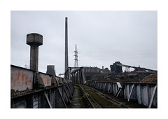 industrial black and magic (Joel Leclercq) Tags: charleroi eosr explorations gris hiver marchienneaupont paysages siderurgie usines urnes canoneosr factories siderurgy abandoned industrial belgium hainaut steel 35mmf14l