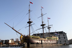 Amsterdam2014_225 (schulzharri) Tags: amsterdam holland niederlande netherlands europ europe flus river water building house haus sun sonne sky himmel blau blue