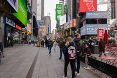 Big T (Jocey K) Tags: sonydscrx100m6 triptocanadaandnewyork architecture buildings street people words signs sky clouds shops billboards