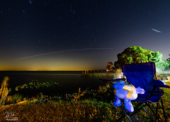 Earth meets Space Station (Michael Seeley) Tags: canon celestialbuddies earthie florida isswave internationalspacestation lakewashington longexposure melbourne nightphotography ourpreciousplanet spotthestation