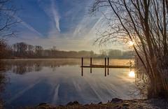 Gavers (Jacques Sper) Tags: sun schendelbeke sunrise zon zonsopgang outdoor oostvlaanderen ochtend water meer pond geraardsbergen canon color kleur