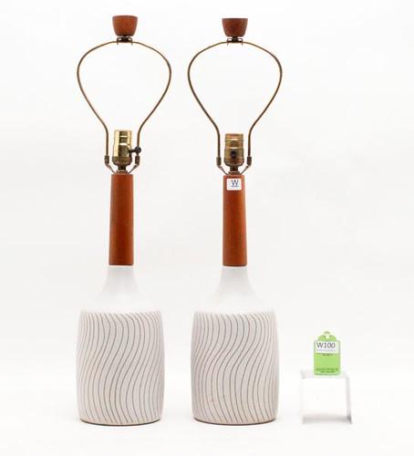 Martz Mid Century Ceramic Table Lamps ($672.00)