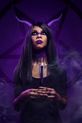 Rites (Wurmwood Photography) Tags: model purple beauty nikon fovitec godox light lighting photography gel gels soft sharp lovely oddity weird halloween candle goth gothic satanist pagan wiccan religious occult odd creative