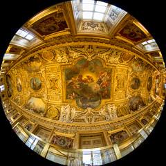 (morten f) Tags: louvre museum ceiling fisheye wide tak