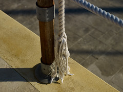Rope Latchi Habour (Jonathon Bennett Photos) Tags: rope abstract water harbour cyprus boats colour nature latchi post safety broken derelict