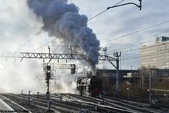 Britannia gets going (Harnetty Railways Photography) Tags: 70000 britannia icons steam crewe station