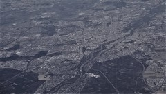 Munich seen from south (roomman) Tags: 2019 germany bayern bavaria aviation flight travel plane swiss airline airlines jet trip aerial aereal sun sunny weather airport terminal lx helvetic operated by embraer e90 190 e190 bw black white contrast design art monochrome munich isar filmstudio münchen town city panorama waw epwa poland destination zrh lszh kloten zurich zürich hbjvr