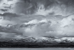 Black Combe on stormy winter's day (Kirkbysnapper) Tags: blackcombe duddonestuary winter stormyday mountain blackandwhite monochrome landscape