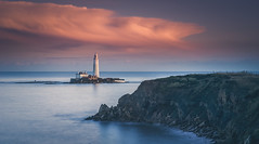 Last Shot (ianbrodie1) Tags: old hartley stmarys lighthouse clouds stormyskies stormy skies leefilters longexposure nikon cliffs water sea seascape coast coastline fence