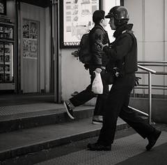 Guard man (Bill Morgan) Tags: fujifilm fuji xpro2 35mm f2 bw jpeg acros alienskin exposurex4