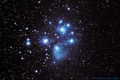 M45 - Pleiades (Puma 68) Tags: lightroom photoshop deepskystacker night nightfoto notturna notte cielo stelle stars star stella sky astrofoto astrophotography sigmaapo120400mmf4556dgoshsm staradventurer pleiadi pleiades nebula nebulosa m45