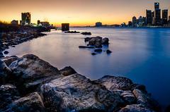 Sharing a Sunset (Neil Cornwall) Tags: 2019 canada detroit detroitriver internationalborder january usa windsor sunset water sky ontario michigan cityscape
