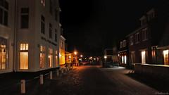 Schiermonnikoog: Hotel van der Werff (Henk Binnendijk) Tags: schiermonnikoog waddeneiland waddenzee noordzee dorp netherlands nederland holland dutch evening avond donker dark night hotelvanderwerff middenstreek reeweg hotel restaurant traditional pension classic traditioneel