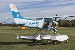 Cessna 182R Skylane - 01 (NickJ 1972) Tags: shuttleworth collection oldwarden race day airshow 2018 aviation cessna 182 skylane floats floatplane gessl