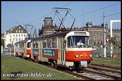 222-044-1992-009-26-1-Pirnaischer Platz (steffenhege) Tags: dresden dvb tatra tram tramway strasenbahn streetcar ckd t4d 222044