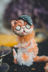 witchy persian cat (firexia) Tags: toy arttoy artdoll polymerclay sculpey sculpture cats cattoy catdoll miniature artist dollcollector collectiondoll collectiontoy persiaan cat witch witchy witchcraft cute cutie kawaii cutetoy etsy art homedecor designe crafttoy