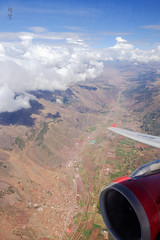 Turning at Choquepata (A. Wee) Tags: peru 秘鲁 flying 飞行 aerial view peruvian andes choquepata