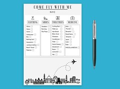 The Travel Packing Checklist (snap_shiblu) Tags: travel traveler agent journey global ad advert beach booking exotic guide holiday holidays hotelpresentation leisure post poster promotion resort summer sun template tour tourism travelagency traveling trip tropical vacation vacations voyage