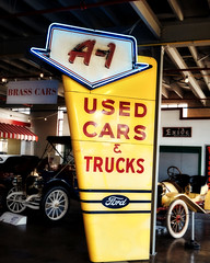 A1 (Pete Zarria) Tags: indiana auburn cord duesenberg american history sign ford used cars autos