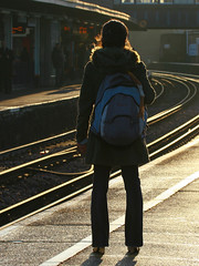 Clapham Junction, December 3rd 2008 (Southsea_Matt) Tags: claphamjunction greaterlondon england unitedkingdom canon 30d december 2008 winter railraod railway train station platform passenger commuter