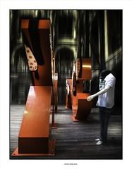 The headless man... (michel di Méglio) Tags: man mannequin olympus red marseille docks zuiko colors couleurs photoshop lightroom