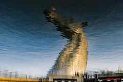 Kelpie reflection (red.richard) Tags: kelpie reflectiom water sky sculpture cof070 cof070hole cof070dmnq cof070mari cof070chri