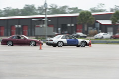 Chasing (Find The Apex) Tags: nolamotorsportspark nodrft drifting drift cars automotive automotivephotography nikon d800 nikond800 nissan 240sx nissan240sx s13 tandemdrift tandem tandemdrifting tandembattle