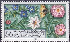 Deutsche Briefmarken (micky the pixel) Tags: briefmarke stamp ephemera deutschland bundespost wohlfahrtsmarke bordüre edging blume flower schmetterling butterfly