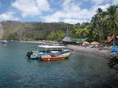 Anse Chastanet, St Lucia - busy with tourists (h_savill) Tags: 2019 february feb holiday travel vacation tourist trip explore worldwide st lucia caribbean antilles windward isle soufriere piton view landscape beach sea water marine anse chastanet ansechastanet sand ocean snorkel underwater life fish boat stlucia