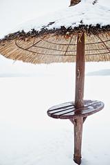 varjo (tjh81) Tags: sunshade beach reed umbrella snow winter shade foggy fog finland canon 80d art creative