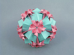 Sweety (masha_losk) Tags: kusudama кусудама origamiwork origamiart foliage origami paper paperfolding modularorigami unitorigami модульноеоригами оригами бумага folded symmetry design handmade art