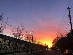 71/365 (moke076) Tags: 2019 365 project 365project project365 oneaday photoaday mobile cell cellphone iphone sunrise morning sky clouds atlanta reynoldstown beltline graffiti mural art painting street road