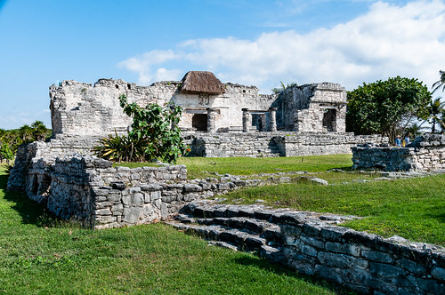 Remains of a palace at Tulum - Mexico