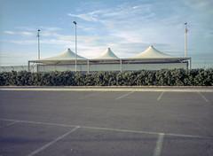 Monopoli, Italy. (wojszyca) Tags: fuji gsw680iii 6x8 120 mediumformat fujinon sw 65mm cinestill 50d epson v800 city urban parking lot urbanlandscape