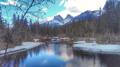 Springtime in the Rockies (altamons) Tags: threesisters rockies rockymountains rocky reflections reflection mountainview mountains mountain landscape kcountry kananaskiscountry kananaskis canmore canadianrockies canadian canada bowvalley bowriver altamons alberta spring canmorecreek