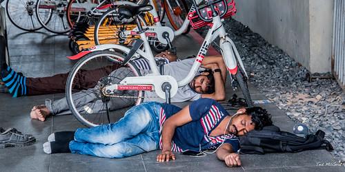 2019 - Singapore - Marina Bay Slow Day for Bike Rentals