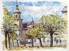 Capilla del Palacio Real de El Pardo (P.Barahona) Tags: urbano urbansketcher urbansketchers urbansketching palacios capillas