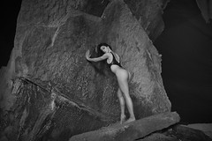 _D3X0001 (an Artist Without Art) Tags: larrygelmini rock stone cave mine grottesco paesaggiogrottesco grotte attitude purity clean ponder contemplate muse cogitate reflect edonismoreaganiano monochrome fadetogray leotard francesca sexy tonic atletic arse girl goddess dark body beauty gorgeus noir fade shades ass slim fit statue woman marble urbex loneliness cavern antrum sarajevo earth deep underexposed texture abyss