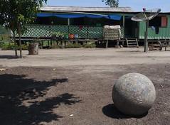Equatorial enigma . . . (ericrstoner) Tags: comunidadepancada rioerepecuru quilombo sphere pará cannonballconcretion amazon amazônia concretion oriximiná house casa antenaparabólica parabolicantenna