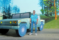 The Patriot Hummer Military Vehicle Paper Model And Tommy Vercetti Paper Figure From PS2 Grand Theft Auto Vice City Game : Diorama GTA San Andreas Game Scenery - 5 Of 14 (Kelvin64) Tags: the patriot hummer military vehicle paper model and tommy vercetti figure from ps2 grand theft auto vice city game diorama gta san andreas scenery