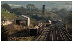 Between Loads (Jim the Joker) Tags: 66044 class66 generalmotors dbc dbcargo burngullow cornwall freight railway train