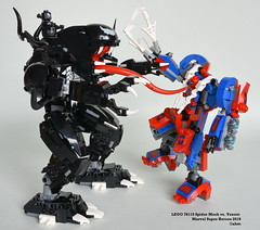 LEGO 76115 Spider Mech vs. Venom (KatanaZ) Tags: lego76115 spidermechvsvenom marvelsuperheroes spiderman ghostspider venom auntmay lego minifigs minifigures