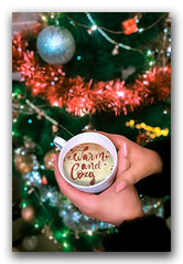 Dipping temperature, snuggling, and hot coffee makes for a perfect evening! (FotographyKS!) Tags: coffee christmas bokeh lights depthoffied hand female festive festival happynewyear closeup mood holiday season warmth hotcupofcoffee colors cheer mobilephotography spirit