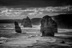 P2252222 Gables to 12 Apostles-2 (Dave Curtis) Tags: victoria greatoceanwalk 12 apostles blackandwhite ocean 2014 australia em5 omd olympus places september