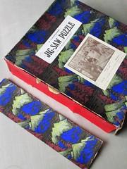 Magna Carta, damaged box lid (pefkosmad) Tags: jigsaw puzzle hobby leisure pastime wood wooden plywood vintage art painting magnacarta kingjohn cavalcade wemack cutbybritishexservicemen used secondhand incomplete missingpieces ebay