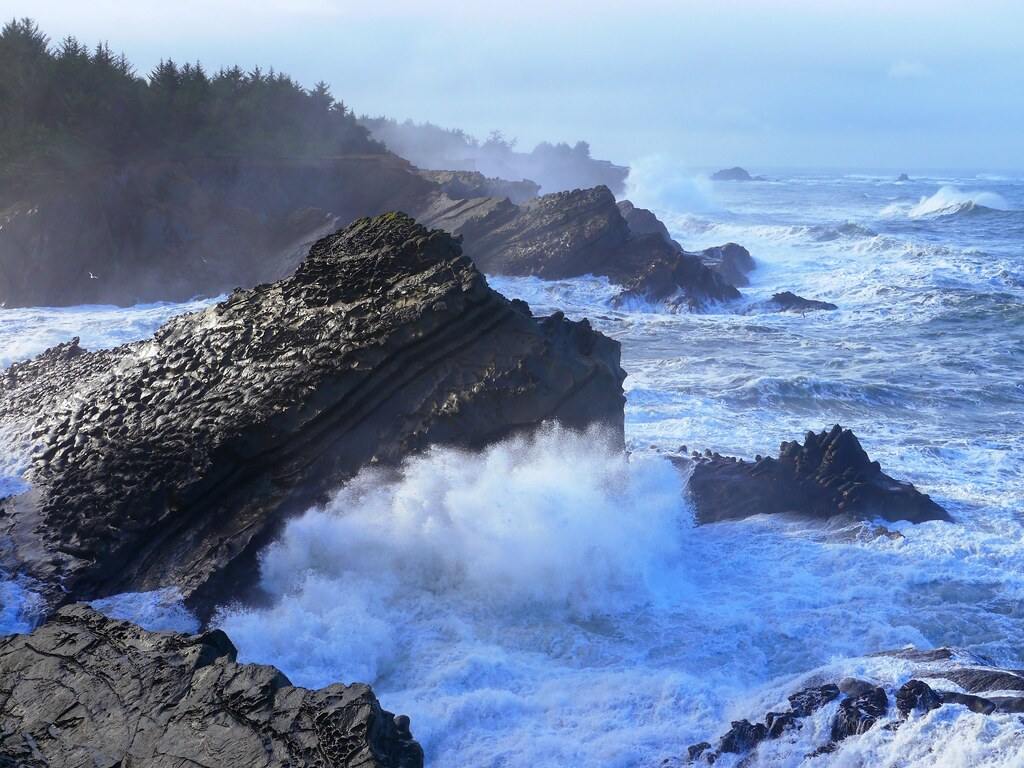 Shore Acres State Park in Coos County, Oregon